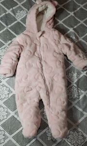 Wondernation Hirls Infant Snowsuit Size 6-9M Pink